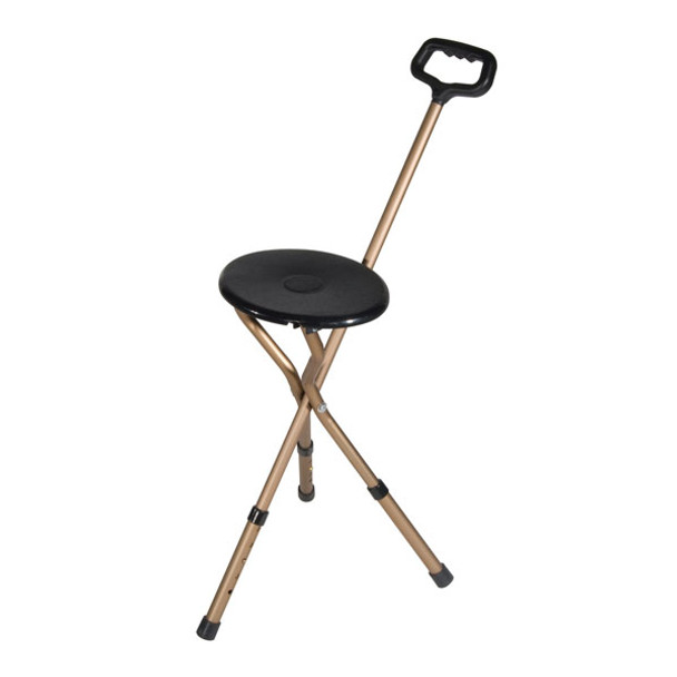 Bronze Adjustable Height Folding Lightweight Cane Seat - rtl10365-adj