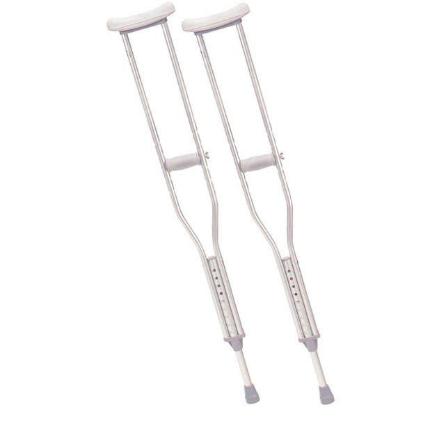 Youth Walking Crutches with Underarm Pad and Handgrip - 10401-1