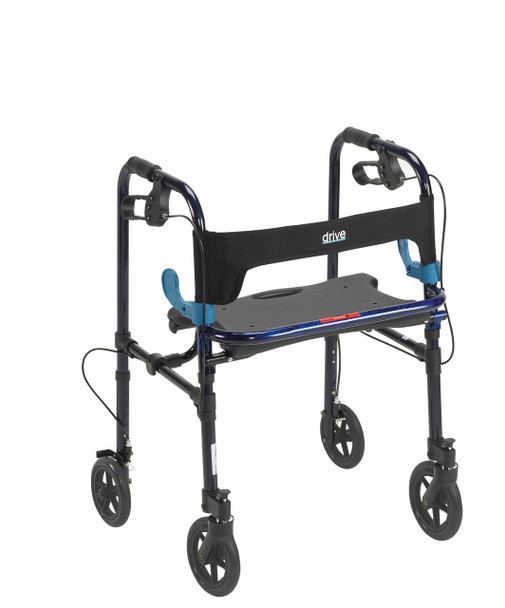 "Clever Lite Flame Blue Rollator Walker with 8"" Casters - 10243"