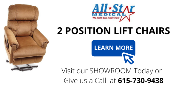 2 position lift chair All Star Medical