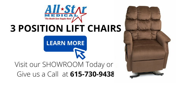 3 position lift chair All Star Medical