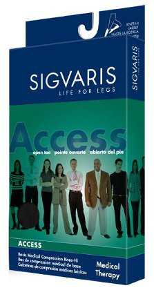 6e32139818 Sigvaris 972N Access 20-30 mmHg Closed Toe Thigh High Compression Stockings  with Silicone Border ...
