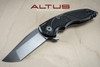 "Jake Hoback Knives A8 Slimline Folder ""Alternate Reality"" (Stonwash/Fallout Black Finish)"