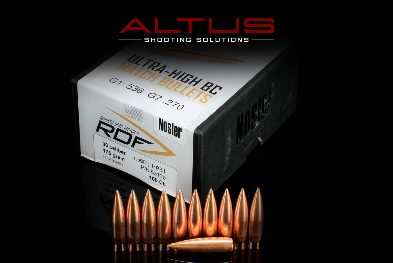 Nosler RDF (Reduced Drag Factor)  30 Cal 175 Grain HPBT