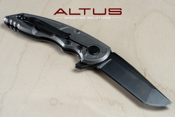 "Jake Hoback Knives A8 Slimline Folder ""Alternate Reality"" (Fallout Black/Stonewash Finish)"