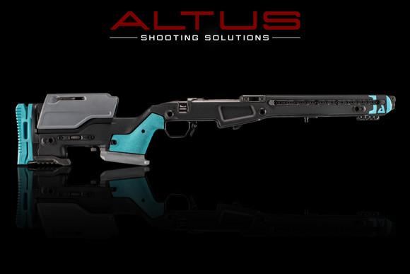 J Allen Enterprises JAE-700 SA Chassis w/ Nose Art (Swat Black w/ Robins Egg Blue)