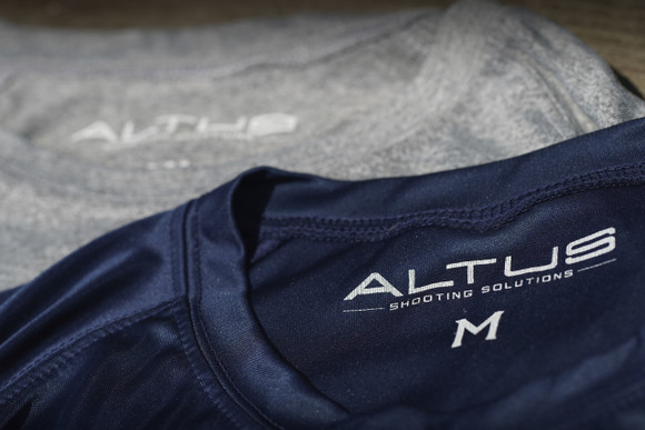 """The """"Heat Index Dry Fit"""" by ALTUS Shooting Solutions Navy Blue"""