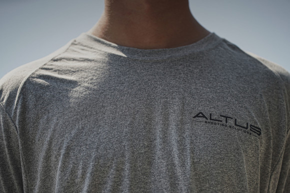 """The """"Heat Index Dry Fit"""" by ALTUS Shooting Solutions Heather Grey"""