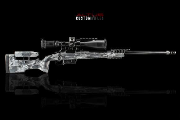 6.5 Creedmoor in Arctic Camo PRS1 Rifle