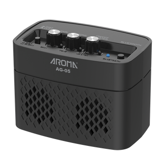 Aroma AG05BK 5W Electric Guitar Rechargeable Portable Amplifier Black