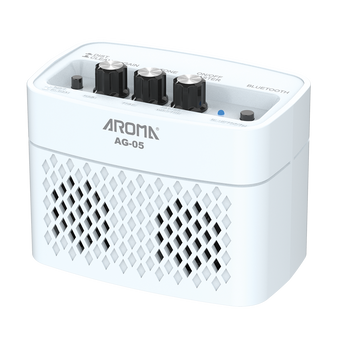 Aroma AG05WH 5W Electric Guitar Rechargeable Portable Amplifier White