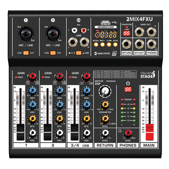 Italian Stage 2MIX4FXU 4-Channel Stereo Mixer