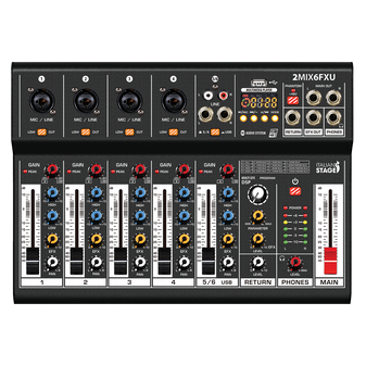 Italian Stage 2MIX6FXU 6-Channel Stereo Mixer