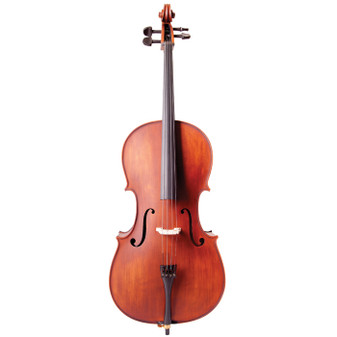 Vivo all Solid Student Cello Outfit withBow, Bag and Professional Set-up