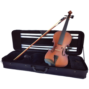 SZ Sarasate Student Plus all Solid Violin with Thomastik Alphayue Strings, Professional Set-up, Hard case bow and rosin