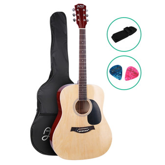 ALPHA Dreadnought Acoustic Steel-Stringed Guitar with Bag