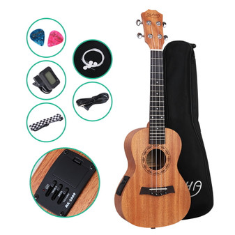 ALPHA Tenor Ukulele Mahogany with Pickup and Accessories Pack
