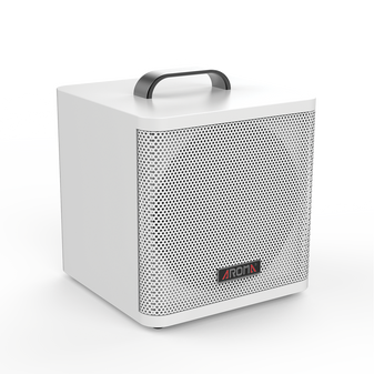 Aroma 40W Rechargeable Acoustic Guitar Amplifier Bluetooth - White AG40AWH