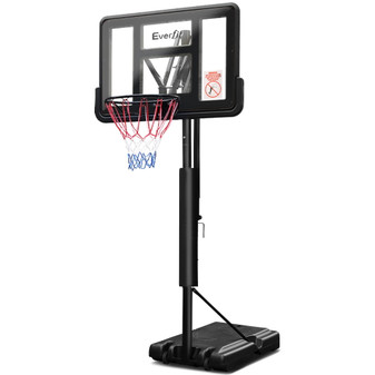 Everfit 3.05M Basketball Hoop Stand System Ring Portable Net Height Adjustable Black