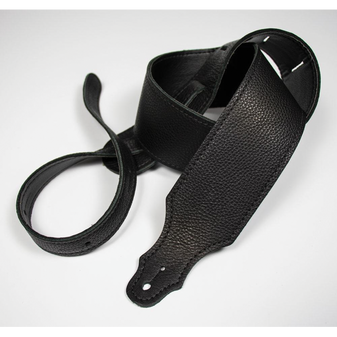 """Franklin 2.5"""" Black Purist Leather Strap with Buck Backing"""