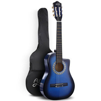 Alpha Classical 1/2 size Acoustic Guitar with Cutaway - Blue