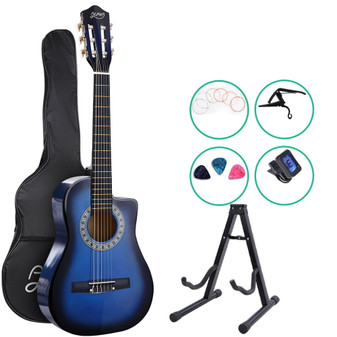 Alpha Classical 1/2 size Acoustic Guitar with Cutaway and Accessories pack- Blue