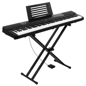 Alpha 88 Keys Electronic Piano with Stand, Music Holder Stand and Sustain pedal