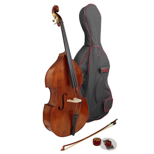 Hidersine Vivente 3/4 all Solid Double  Bass Student Outfit