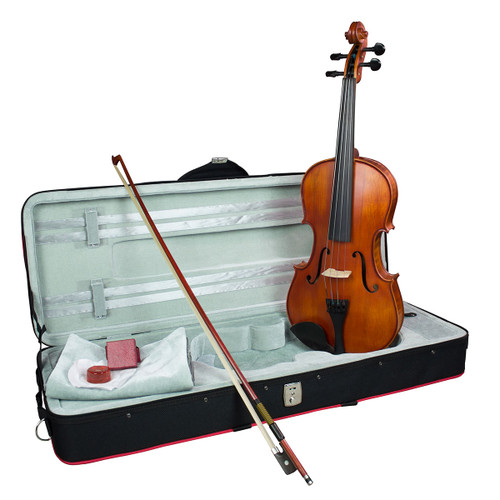 """Hidersine Vivente all Solid Viola 12"""" Student Outfit with Professional Setup"""