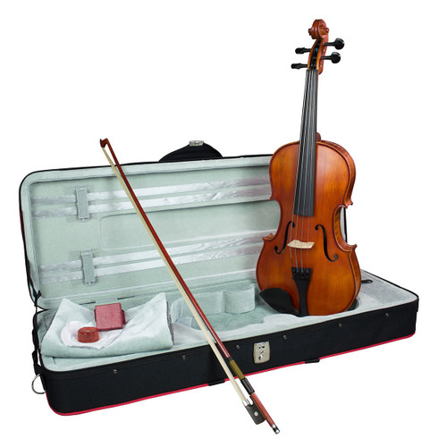 """Hidersine Vivente Viola 15"""" all Solid Student Outfit with Professional Setup"""