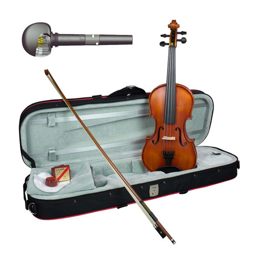 Hidersine Vivente Academy 'Finetune' all Solid Violin 3/4 Student Outfit with Professional Setup