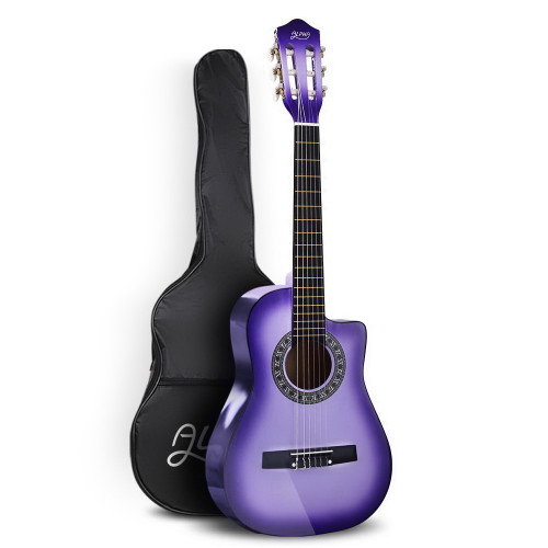 Alpha Classical 1/2 size Acoustic Guitar with Cutaway - Purple