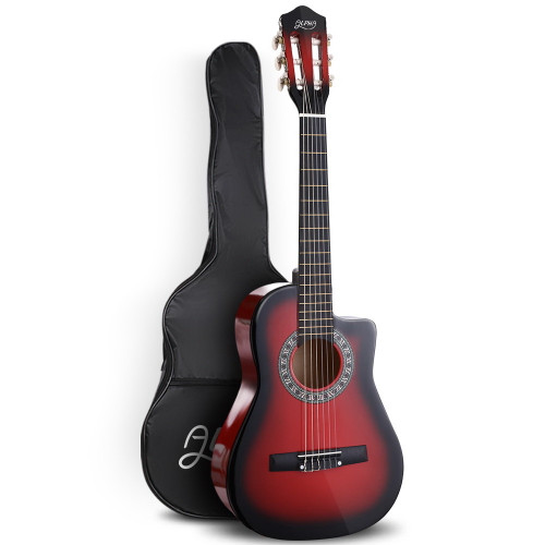 Alpha Classical 1/2 size Acoustic Guitar with Cutaway - Red Burst