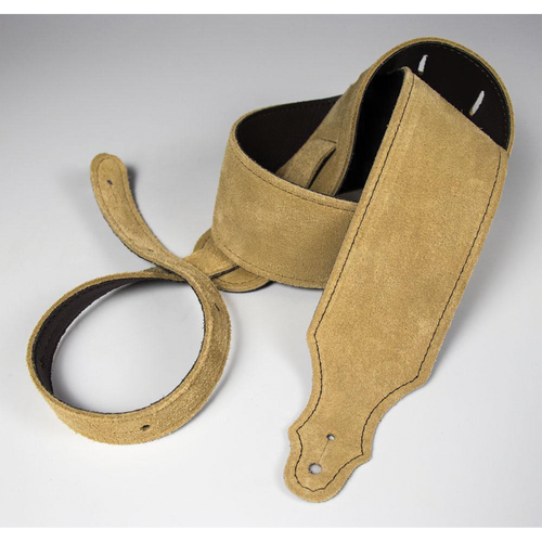 """Franklin 2.5"""" Honey Purist Suede Strap with Buck Backing"""