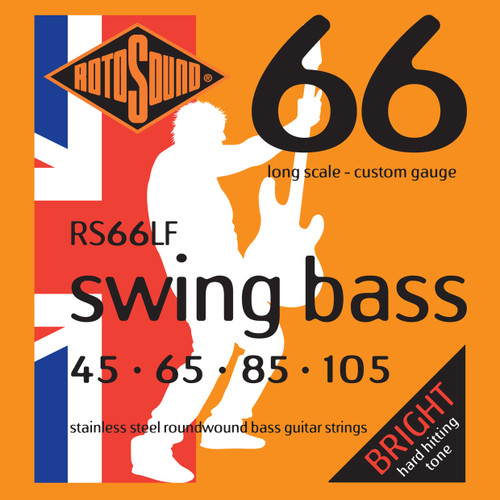 Rotosound RS66LF Swing Bass 66 Long Scale Hybrid 45 - 105 Stainless
