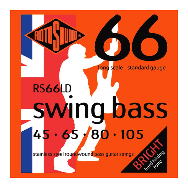 Rotosound RS66LD Swing Bass 66 Long Scale 45 - 105 Stainless