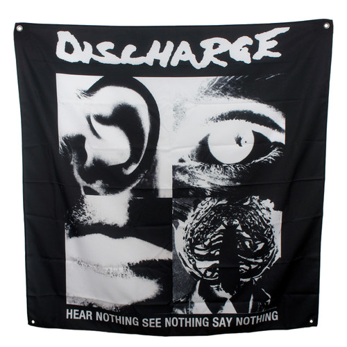 Discharge Fabric Poster Flag - Hear Nothing
