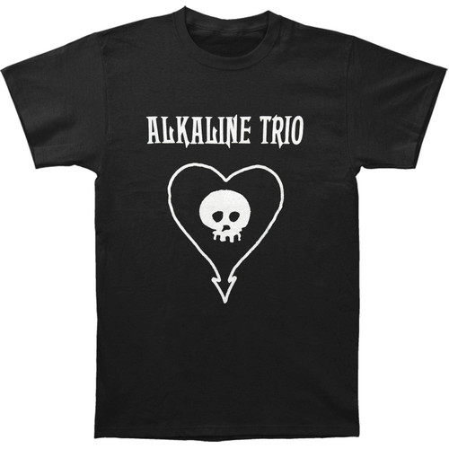 ALKALINE TRIO Simple Heart Skull Logo T-Shirt