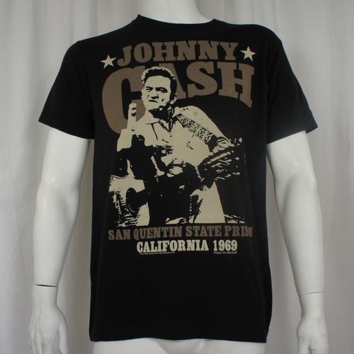 JOHNNY CASH Outlaw Finger Jim Marshall Prison Photo T-Shirt