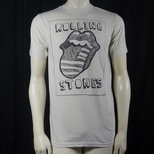 ROLLING STONES US Sketch Tongue Logo T-Shirt