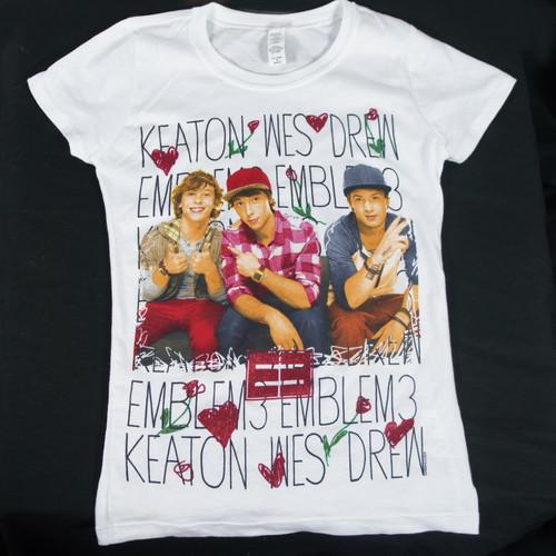 EMBLEM 3 Keaton Wes Drew Photo Girl Kids T-Shirt