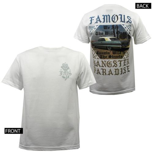 Famous Stars & Straps Gangster Paradise White T-Shirt