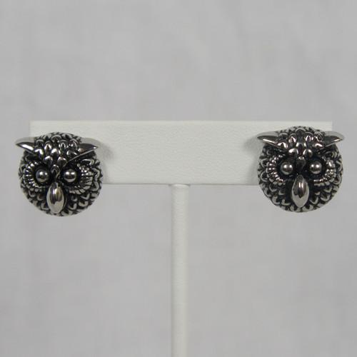 INOX JEWELRY Womens Polished Stainless Steel Owl Stud Design Earrings