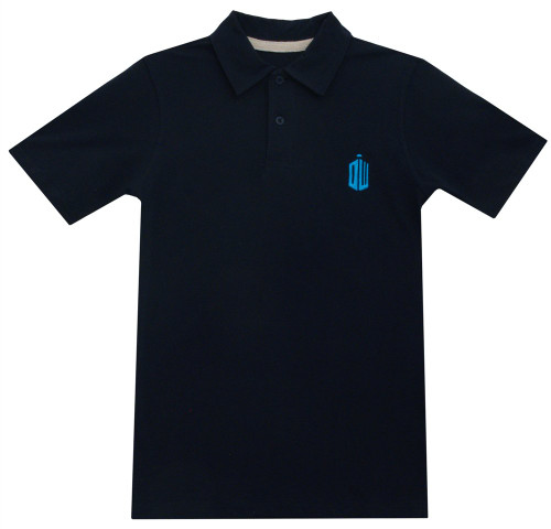 Dr. Who Polo Shirt - Embroidered DW Tardis Shape Logo