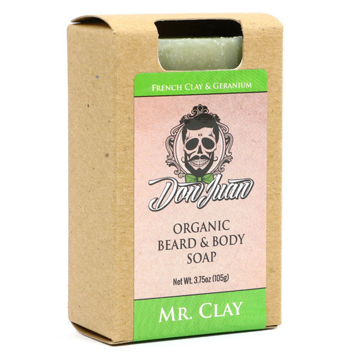 Don Juan Mr. Clay Organic Beard Face Soap 3.75 Oz.