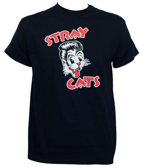 Stray Cats Cat Face T-Shirt