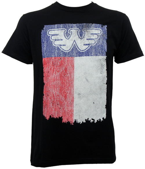 Waylon Jennings Texas State Flag Slim-Fit T-Shirt