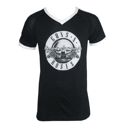 Guns N Roses Bullet Logo Black Soccer T-Shirt