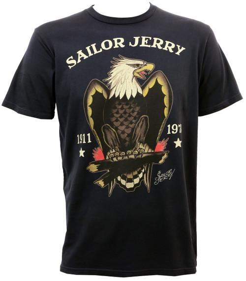 Sailor Jerry Bold Eagle Slim Fit T-Shirt Graphite