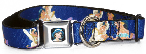 Aladdin & Jasmine Magic Carpet Ride Dog Collar